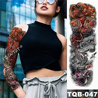 tzxdbh 5pcs Big Arm Brazo del Tatuaje del Tatuaje de la Etiqueta ...