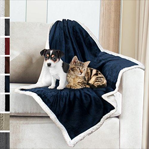 Premium Sherpa Dog Blanket   Pet Throw Blanket for Puppy, Sm