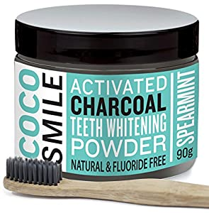 cocosmile activated charcoal teeth whitening powder with toothbrush 90g health. Black Bedroom Furniture Sets. Home Design Ideas