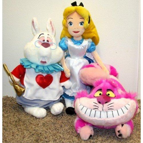 Perfect Easter Basket Filler Set - Hard to Find Disney Alice in Wonderland Plush Doll Set with 19