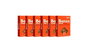 Banza Chickpea Pasta – High Protein Gluten Free Healthy Pasta – Variety Case (Shells, Elbows, Penne, Rotini) (Pack of 6)