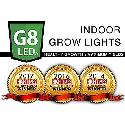 ... G8LED 450 Watt LED Grow Light For Flowering BLOOM With Optimal 8 Band  With Increased ...