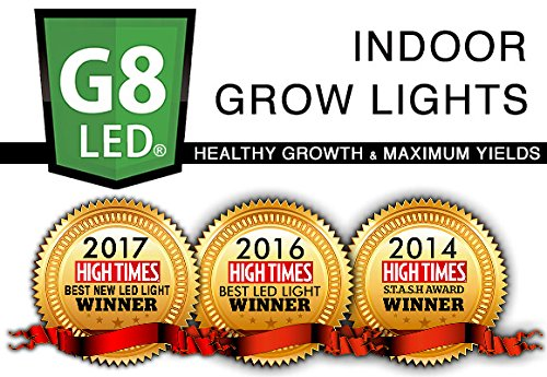 G8LED G8-600 LED grow lights - multiple High Times MAgazine STASH Awards winner