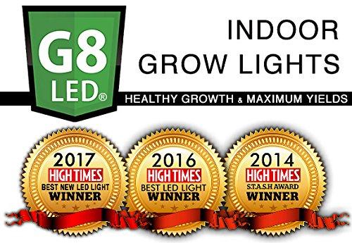 G8LED 240 Watt LED Veg/Flower Grow Light with Optimal 8-Band plus Infrared (IR) and Ultraviolet (UV) - 3 Watt Chips by G8LED (Image #3)
