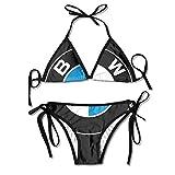 Ogbcom Women's BMW Logo Bikini Swimsuit Beach Swimsuit Push Up Swimsuit