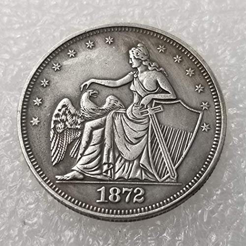 NiuChong 1872 US Liberty Old Half-Dollar Coin - Great American Commemorative Coins - USA Morgan Dollars-Handmade US Coins-Teaching Tool for Kids Love it