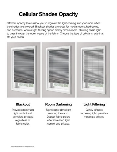 Bali Blinds 3/8'' Custom Light Filtering Cellular Shade with Cord Lift, Spa Blue, 24'' x 32'' by Bali Blinds (Image #1)
