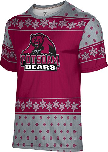 Men's State University of New York at Potsdam Ugly Holiday Snowflake Tech Tee
