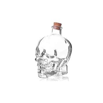 Vidrio De Cóctel Bar, Botella De Almacenamiento Cráneo, Botella De Vino, Jugo De