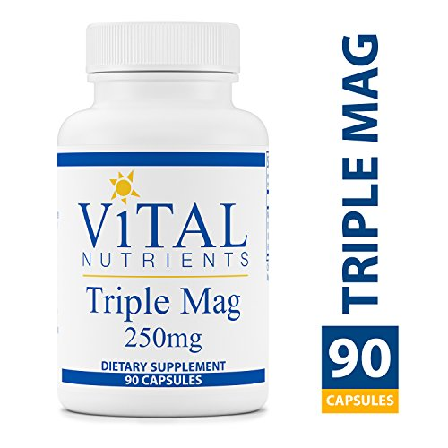 Magnesium Malate 90 Capsules - Vital Nutrients - Triple Mag 250 mg - Magnesium for Enhanced Absorption and Metabolism. Contains Magnesium Oxide, Malate and Glycinate - 90 Capsules