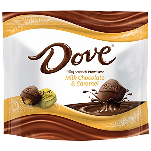 DOVE PROMISES Caramel Milk Chocolate Candy 7.61-Ounce Bag (Pack of ()
