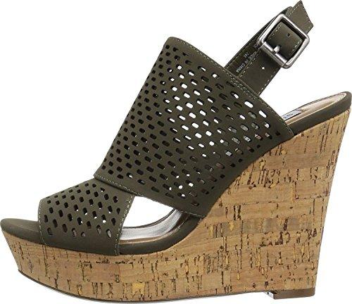 Steve Madden Womens Exhibit Olive Sandal