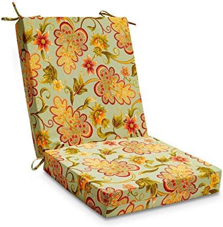 downluxe Outdoor/Indoor Waterproof Square Corner Chair Cushion