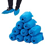 100 pcs Home Disposable Thick Boot & Shoe Cover (5g/pc) - Non-skid & Durable for Workplace, Medical, Indoor or Car Carpet Floor Protection