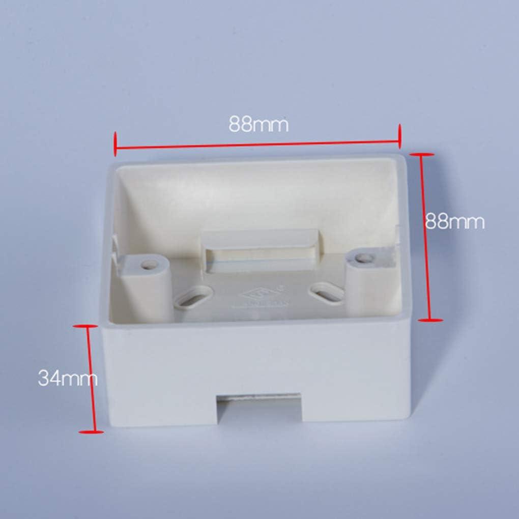 Montaje Externo reemplazo Caja para 86mmx86mm est/ándar interruptores y Cajas de pl/ástico de Montaje del Interruptor de sockets aplicar Cualquier posici/ón de Superficie de la Pared
