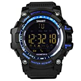 Smart Watch EUTUKEY Men Bluetooth Outdoor Sport Watch Fitness Tracker IP67 Waterproof Remote Camera Smart Band for Android with Android iOS,12 Months Standby Time(Blue)