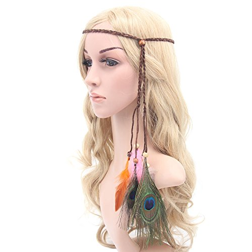 tallahassee Indian Hippie Feather Tassels Headband Bohemia Style Headdress - 1 (Tallahassee 1 1)