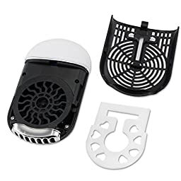 ESUMIC Portable Mini Air Conditioner Travel Handheld USB Rechargeable Cooling Fan for Summer (Black)