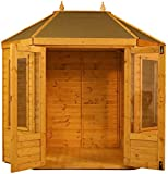 Green Planet UK - 8x6 Octagonal Summerhouse/Garden Retreat - FSC Certified Timber, Styrene Glazed UV Protected Windows, Double Doors, 12mm Cladding (8x6 / 8ft x 6ft) 3-5 Days Delivery