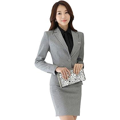 激情女郎 JIQINGNVLANG レディース セットスーツ OL オフィス ビジネス スカートスーツ