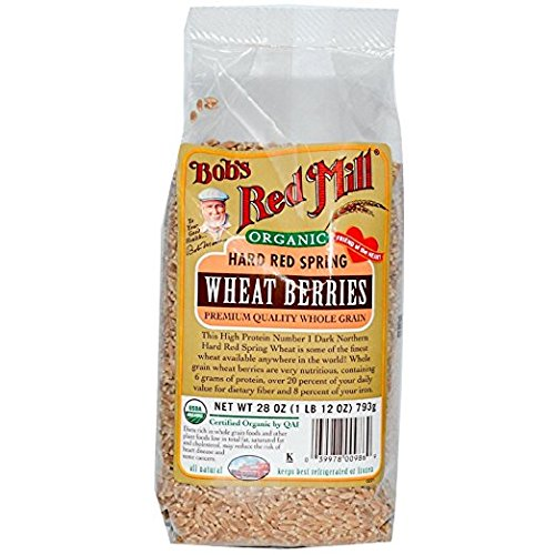 Bob's Red Mill Organic Hard Red Spring Wheat Berries, 28 Ounce (Pack of 2)