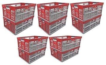 rot  Faltbox Box Kiste 6 x Profi Klappbox 45 L bis 50 kg anthrazit