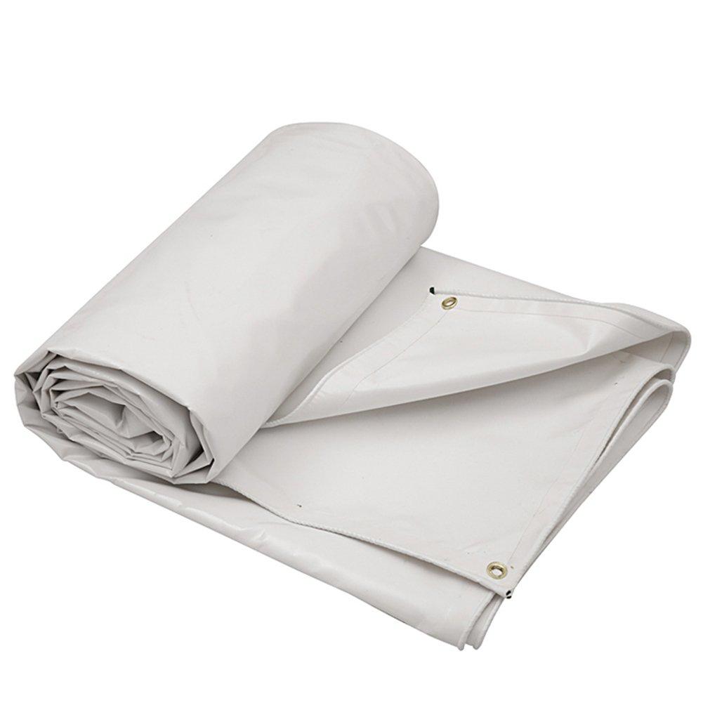 CHAOXIANG ターポリン 厚い 雨布 リノリウム 耐寒性 シェード 折りたたみが簡単 PVC、 630G /㎡、 6色, 6サイズ (色 : 白, サイズ さいず : 4×3m) B07FYGWMMN 4×3m|白 白 4×3m
