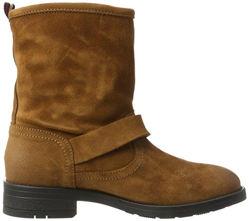1b Marrón winter Para Slouch Jeans A1385line Botas Cognac Mujer Tommy qxBE0Rwf