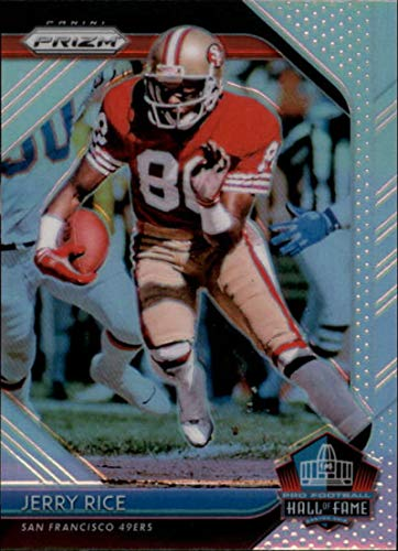 2018 Panini Prizm Hall of Fame Prizm #8 Jerry Rice San Francisco 49ers NFL Football Trading Card ()