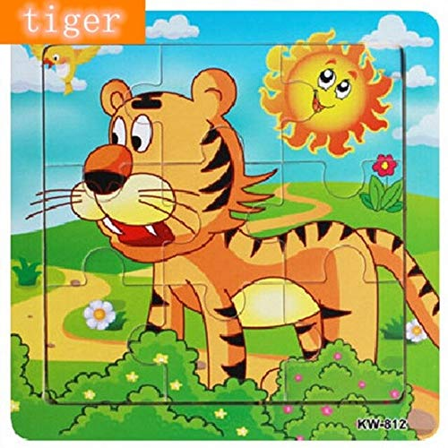 RAFGL Wood Puzzle Cartoon Jigsaw Toy & Hobbies Animals Elephant Frog Lion Sheep Tiger Puzzles DIY Toys for Children Gift U Must Have Friendship Gifts Girl S Favourite 4T Superhero LOL UNbox from RAFGL