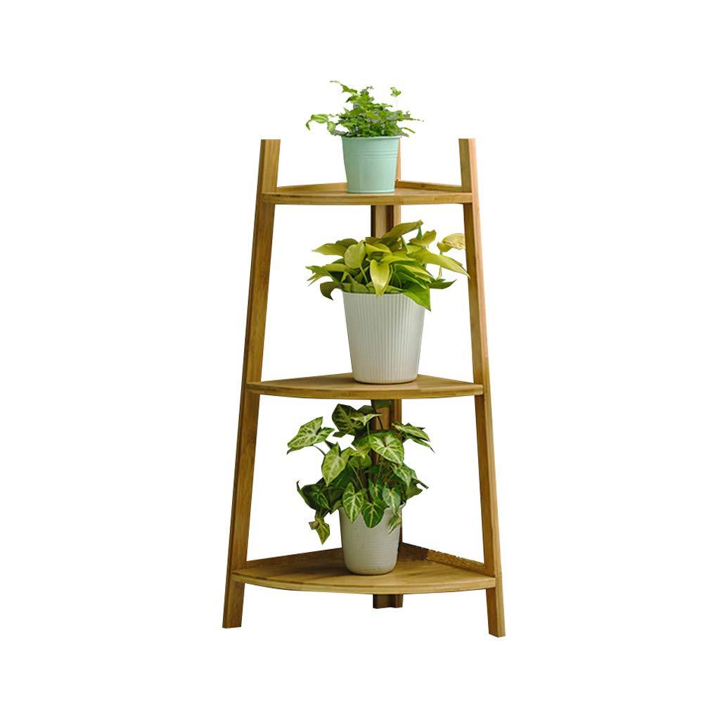 prezzo più economico C-J-Xin Bamboo Flower Flower Flower Stand, Plant Stand Shelf Floor Corner Soggiorno Camera da Letto Balcone Primaria Multistrato a Colorei primari Piantare Fiori (colore   A, Dimensioni   50  115cm)  controlla il più economico