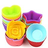 #2: MLMSY Cupcake Baking Silicone Cake Molds For Baking Non Stick 24Pcs