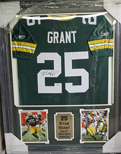Ryan Grant Green Bay Packers Autographed Jersey Matted in a Premium