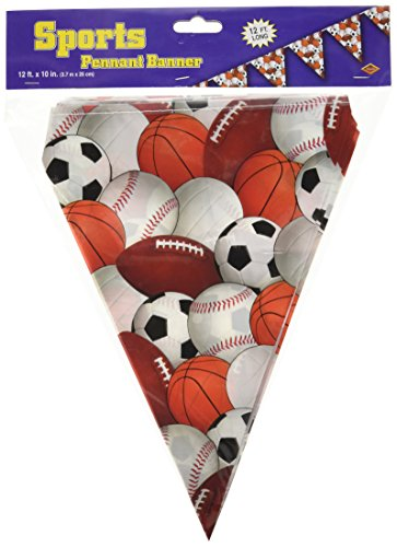 Sports Pennant Banner Party Accessory 1 Count 1 Pkg