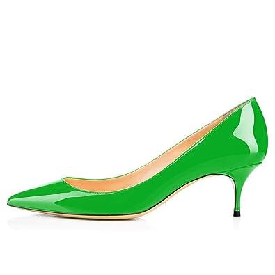 timeless design 10c70 32e66 Womens Pumps Kitten Heel Court Shoes Closed Toe Shoes Black ...