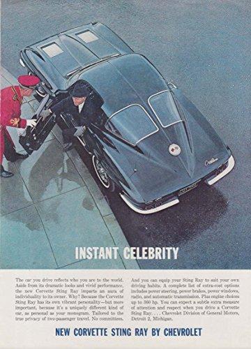 Instant Celebrity - Chevrolet Corvette split-window coupe ad 1963 NY