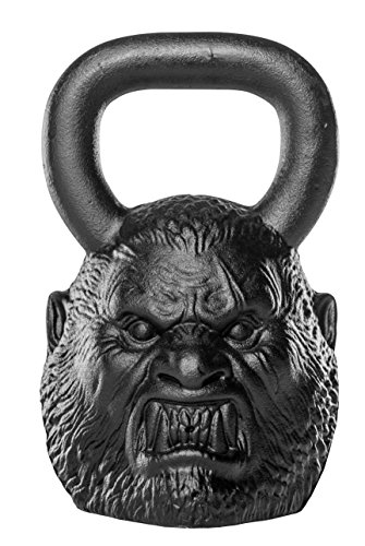 Onnit Werewolf Legend Bell (62lbs) - Custom Sculpted, Perfectly Balanced Iron Kettlebell