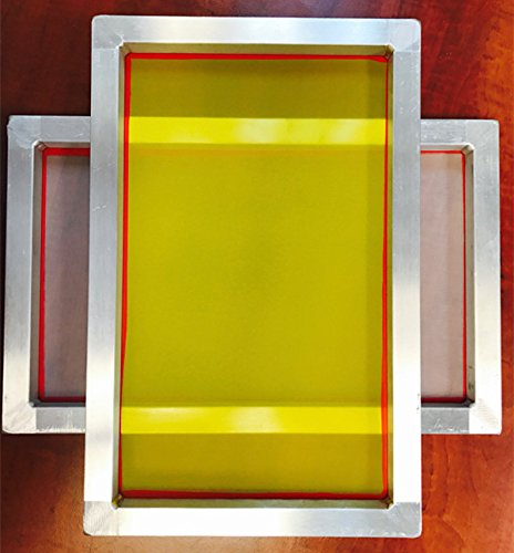 Aluminum Screen Printing Screens, Size 9'' x 20'' Pre-Stretched Silk Screen Frame (230 Yellow -