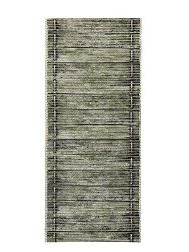 Birch 2' (2-feet X 8-feet Rubber Foam Runner Rug | Moss Wood Birch Modern Floor Runner 2x8)