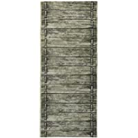 2-Feet X 4-Feet Rubber Foam Runner Rug | Moss Wood Birch Modern Floor Runner 2x4
