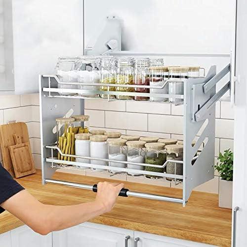 dise/ño de Rejilla Puede drenar Roebii Estante de Cocina para vajilla Estanter/íA Apilable Cocina Estante expandible para Armario para Ampliar El Espacio De Guardado
