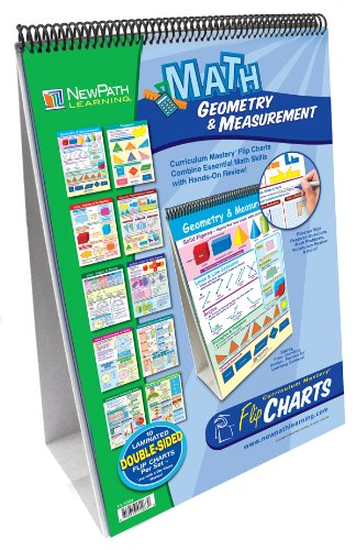 Chart Learning Geometry - NewPath Learning Geometry and Measurement Curriculum Mastery Flip Chart Set, Grade 4-6