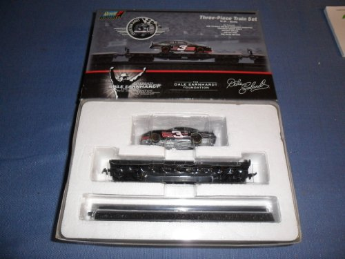 Dale Earnhardt Three-Piece Train Set . . . Includes 1/64 Diecast Car . . One Flat Bed Train Car . . One Track Section . . . Limited Edition . . Includes Certificate of Authenticity by Nascar (Diecast Train Set)