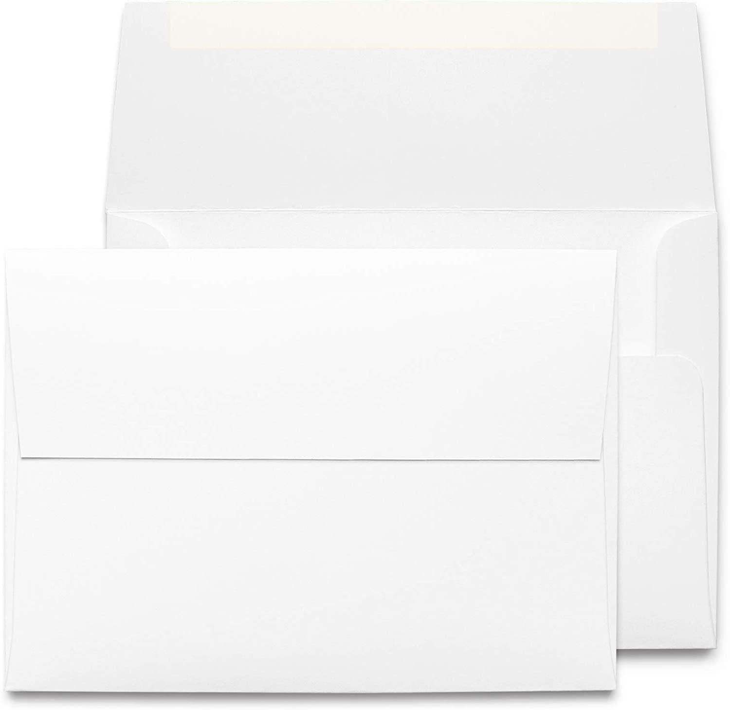 Desktop Publishing Supplies 5x7 Envelopes - 100 Pack - Thick A7 Size (5.25 x 7.25 inch) with Bright White Vellum Finish - for Mailing Greeting Cards, Invitations, Postcards, Photos, Announcements