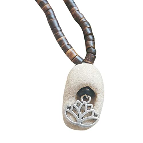 Amazon Com Lotus Hag Stone Necklace Beaded Necklace With Natural Witches Amulet And Charm Spiritual Jewelry Handmade A hag stone is simply a stone with a natural hole through it. lotus hag stone necklace beaded necklace with natural witches amulet and charm spiritual jewelry