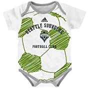 OuterStuff MLS Seattle Sounders FC Infant Creeper Drop Ball-12, White