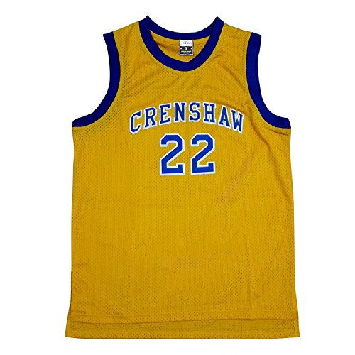 JiFan Athletic McCall 22 Crenshaw High School Yellow Basketball Jersey M -