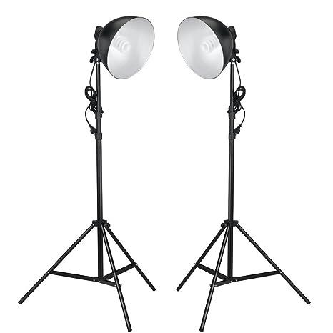 Welp vidaXL Studiolampe mit Reflektoren Stative 24W: Amazon.de: Kamera PV-28