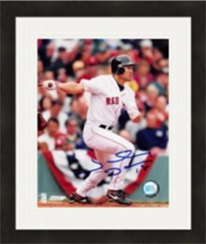 Signed Johnny Damon Photo - 8x10) #3 Matted & Framed - Autographed MLB Photos