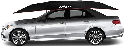 Tienda de campaña para coche LANMODO, portátil, automática, con control remoto, antiUV, resistente al agua, a prueba de viento, nieve, tormenta, granizo, objetos caídos, 137, 8 x 82, 7 cm (3, 5